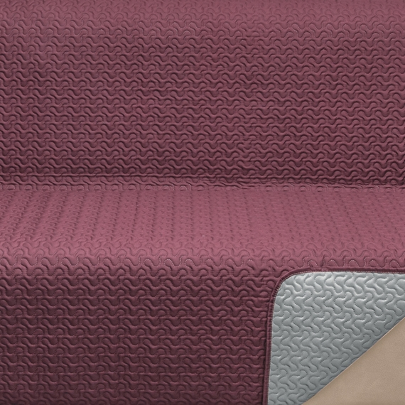 Outstanding Reversible Ultrasound Sofa Cover Size 1 Seat Color Burgundy Bralicious Painted Fabric Chair Ideas Braliciousco