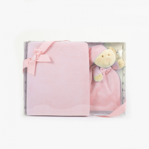Doudou Teddy Bear + Blanket
