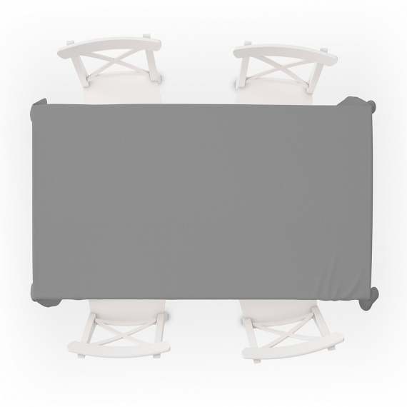 Grey Plain tablecloth