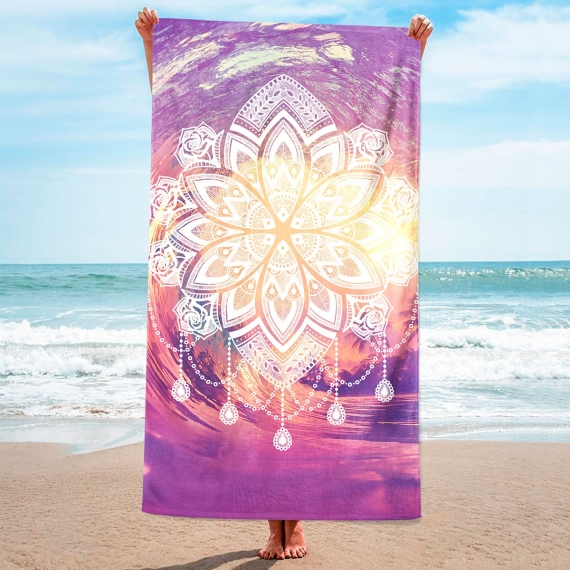 3D Mandala Beach Towel