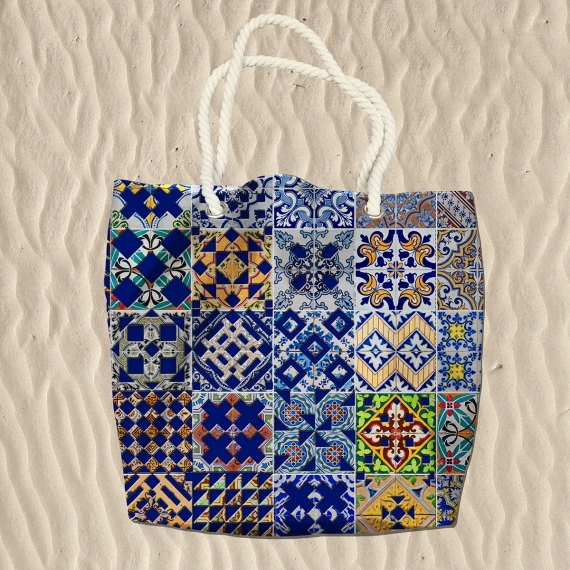 Portuguese Tile Beach Bag