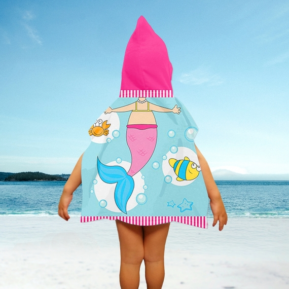 Mermaid Kid's Poncho